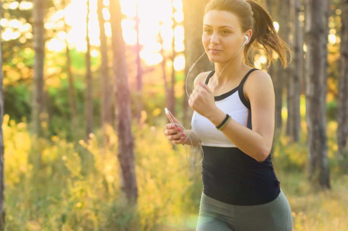 Woman Enjoying Outside Exercise